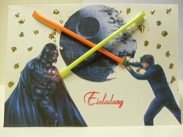 Einladungskarten Star Wars U2013 Ledeclairage, Einladungs