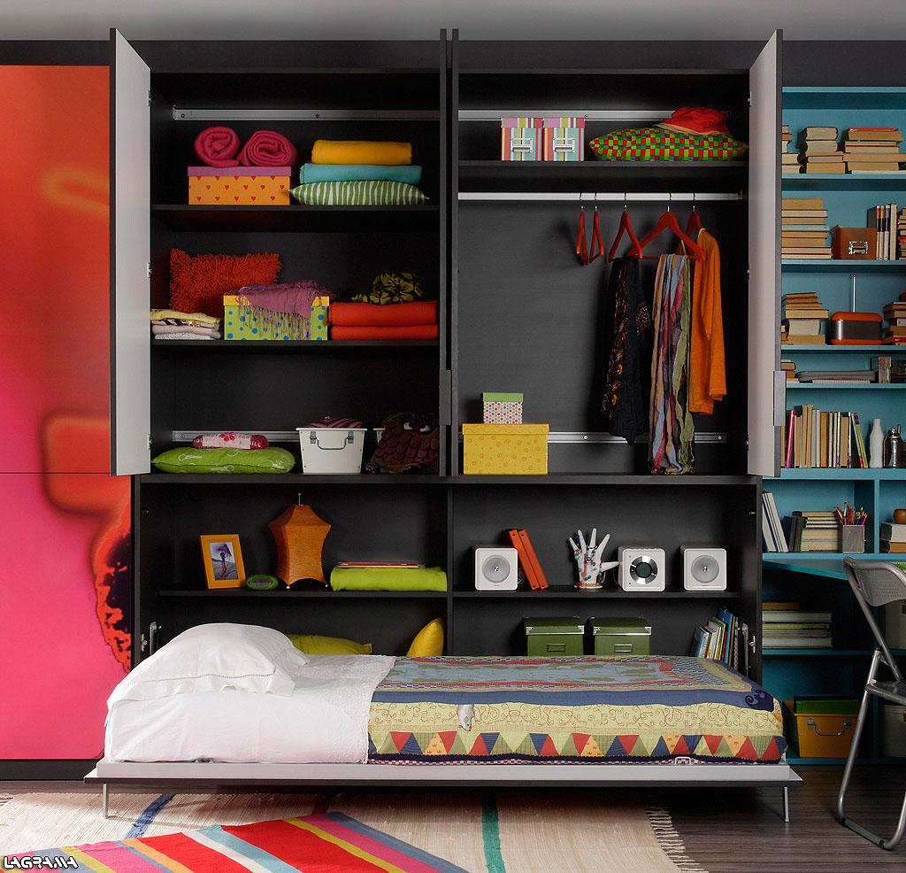 Cama abatible con armario abierto - Cama con armario ...