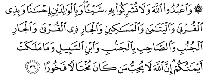 Surat An-Nisa Ayat 36