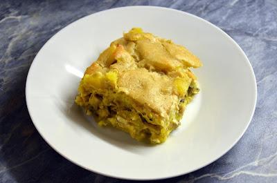 Veganska krompirjeva musaka s šampinjoni