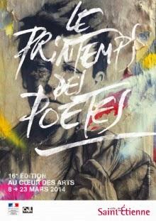 16ème Printemps des Poètes du 08/03 au 23/03/2014, TROPIQUE 24 rue Pierre BÉRARD SAINT-ETIENNE