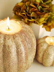 Chic D.I.Y Pumpkin Table Center Pieces.