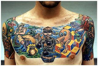 Tatuagem de jogos do Atari