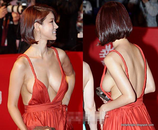 Artis Korea Oh In Hye Memakai Gaun Yang Menampakkan Payudaranya