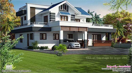 Modern villa in Thiruvalla, Kerala