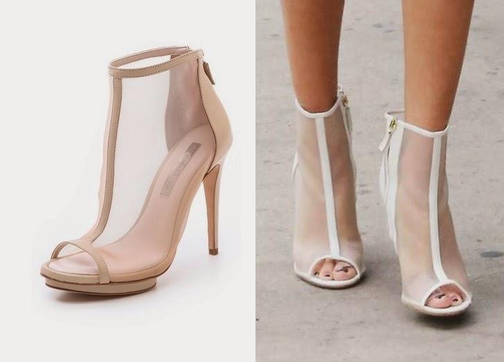 Selena Gomez - BCBG Max Azria 'Gamma' peep-toe mesh booties