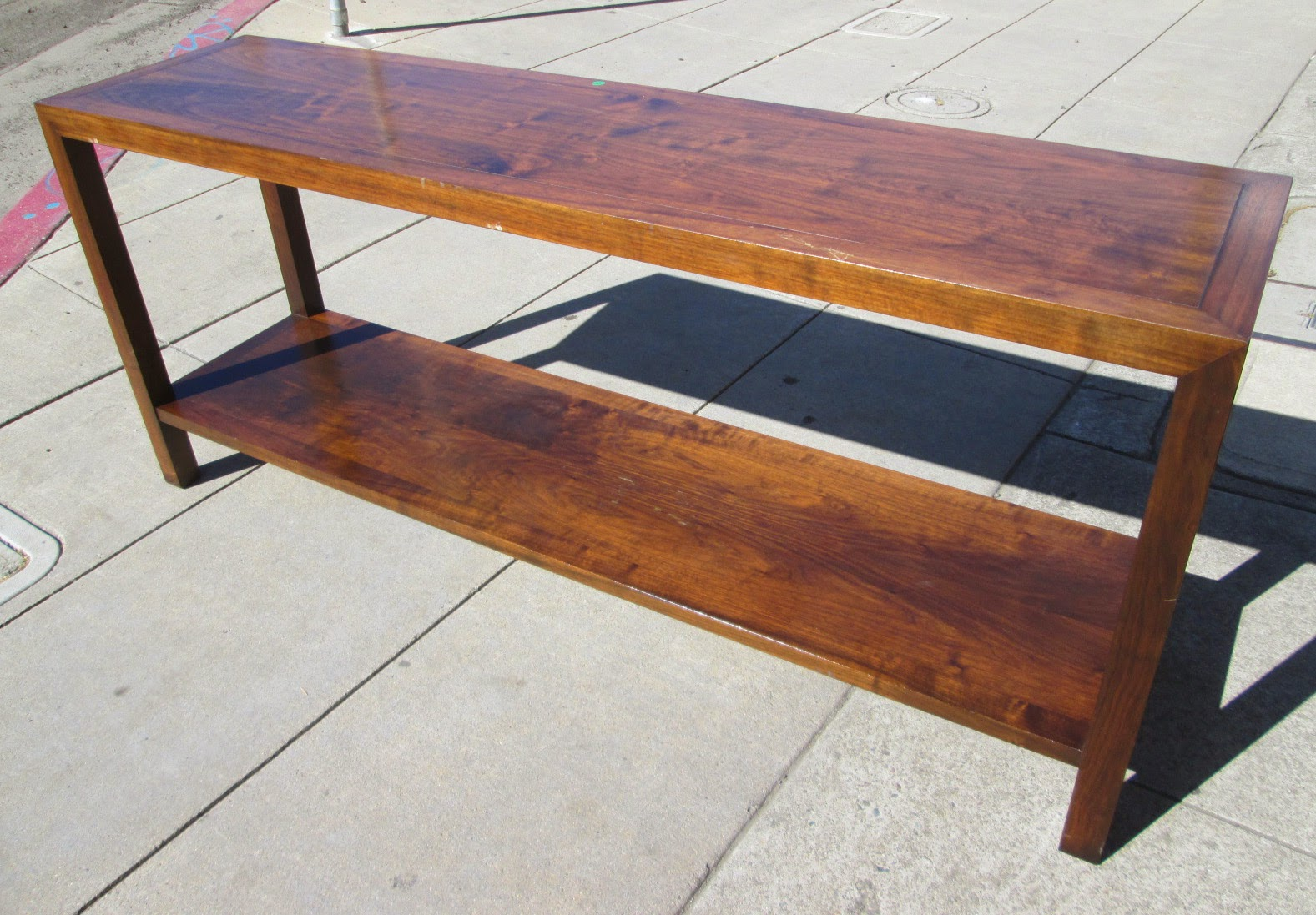 Uhuru furniture collectibles sold 70 39 s burma console for Sofa table 70