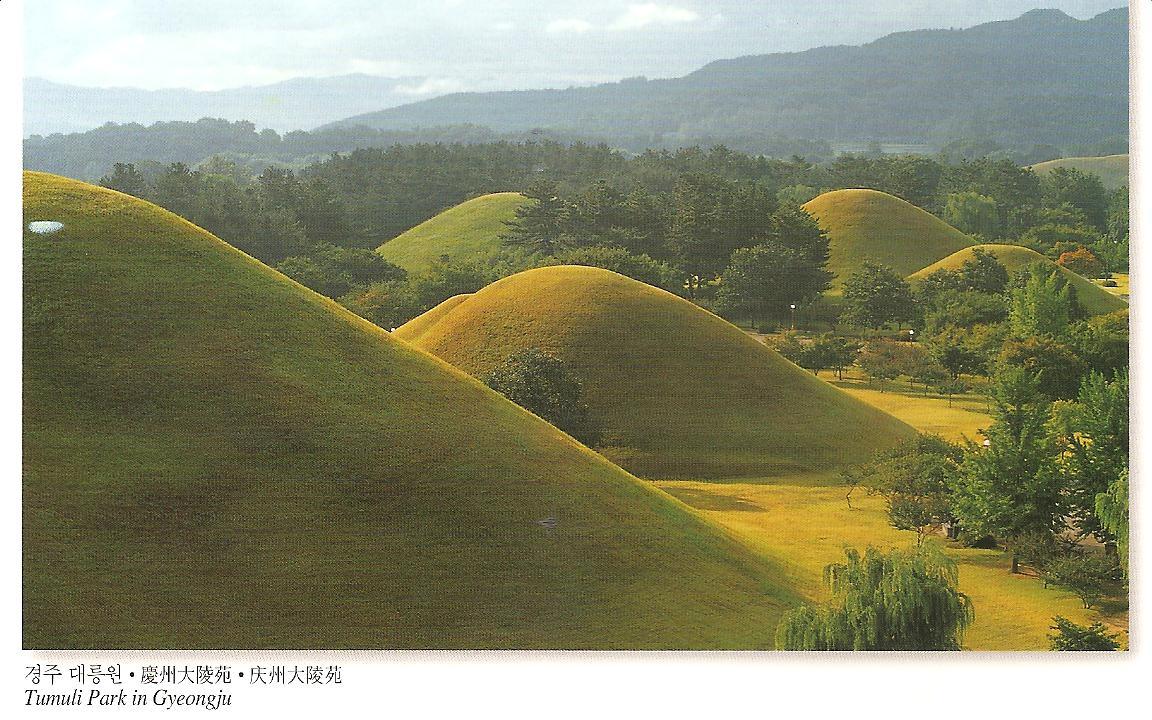 MY POSTCARD PAGE SOUTH KOREA Tumuli Park Gyeongju UNESCO