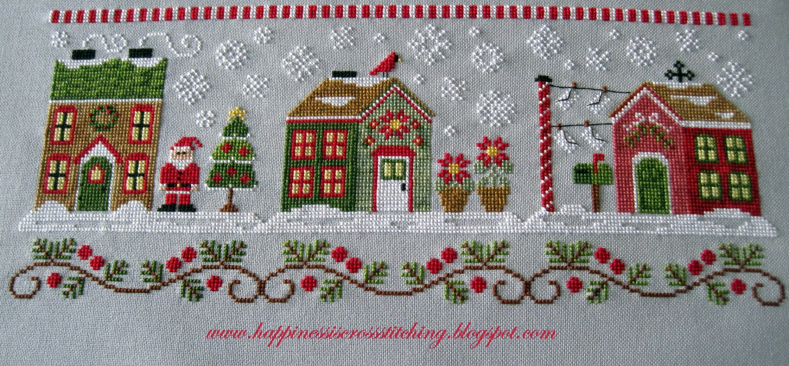 Happiness is Cross Stitching : Country Cottage Needlework Santa's ...
