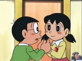 Gambar kartun Shizuka dan Nobita