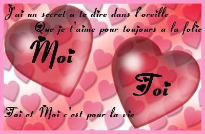 Po sie d 39 amour pour lui mot d 39 amour phrase d 39 amour lettre d 39 - Parole saint valentin ...