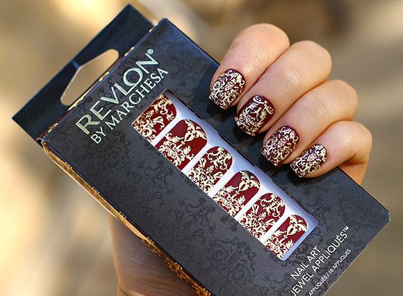 Revlon by Marchesa Nail Art 3D Jewel Appliqués Royal Burgundy