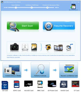 Card Recovery Pro v2.1.5.0 is designed to restore files from memory cards