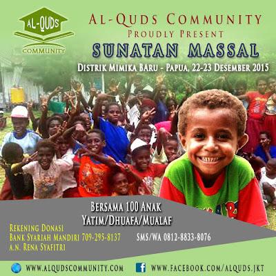 ayo turut andil sumbangkan dana anda untuk sunnat massal di mimika papua