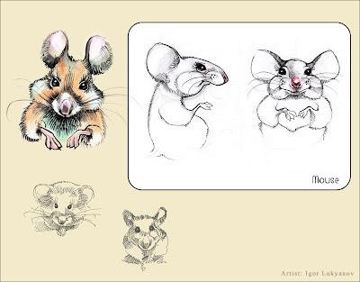cute stuffed mouse