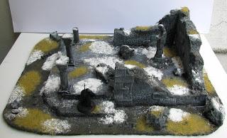 makiety bitewne władca pierścieni ruiny świątyni