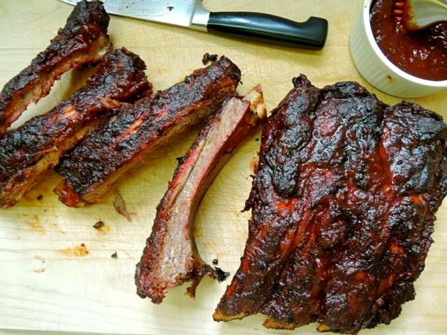 Smoked Beef Back Ribs with Red Wine BBQ Sauce by The Briny Lemon