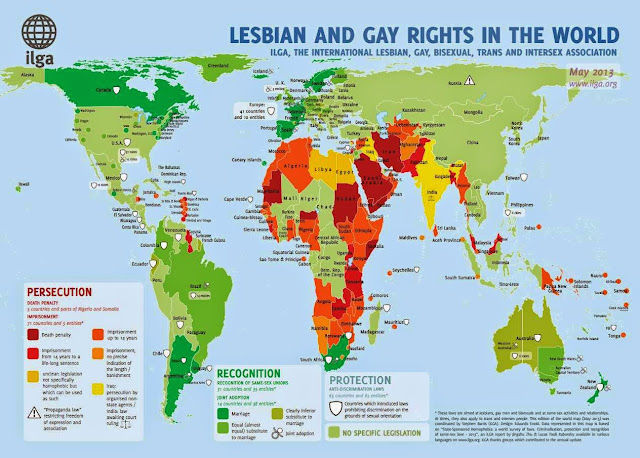 Map of Lesbian and Gay Rights in the World