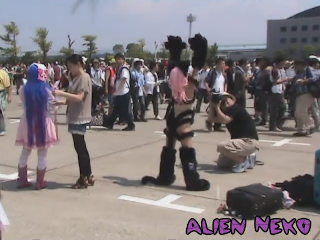 Awesome cat cosplay at Comiket