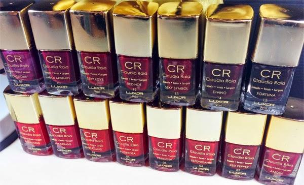 coleção de esmaltes vermelhos Raia Rouge by Luxor