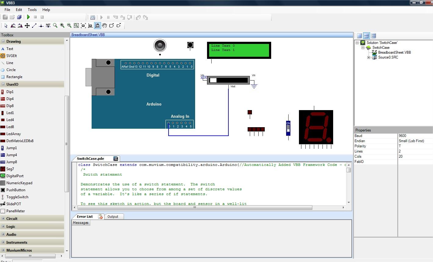 Simulador de Arduino Virtual Breadboard V3.6