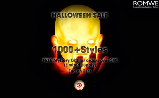 Romwe Halloween Sale  Up to 70% off, over 1000+ styles  FREE Mystery Gift Orders over $40