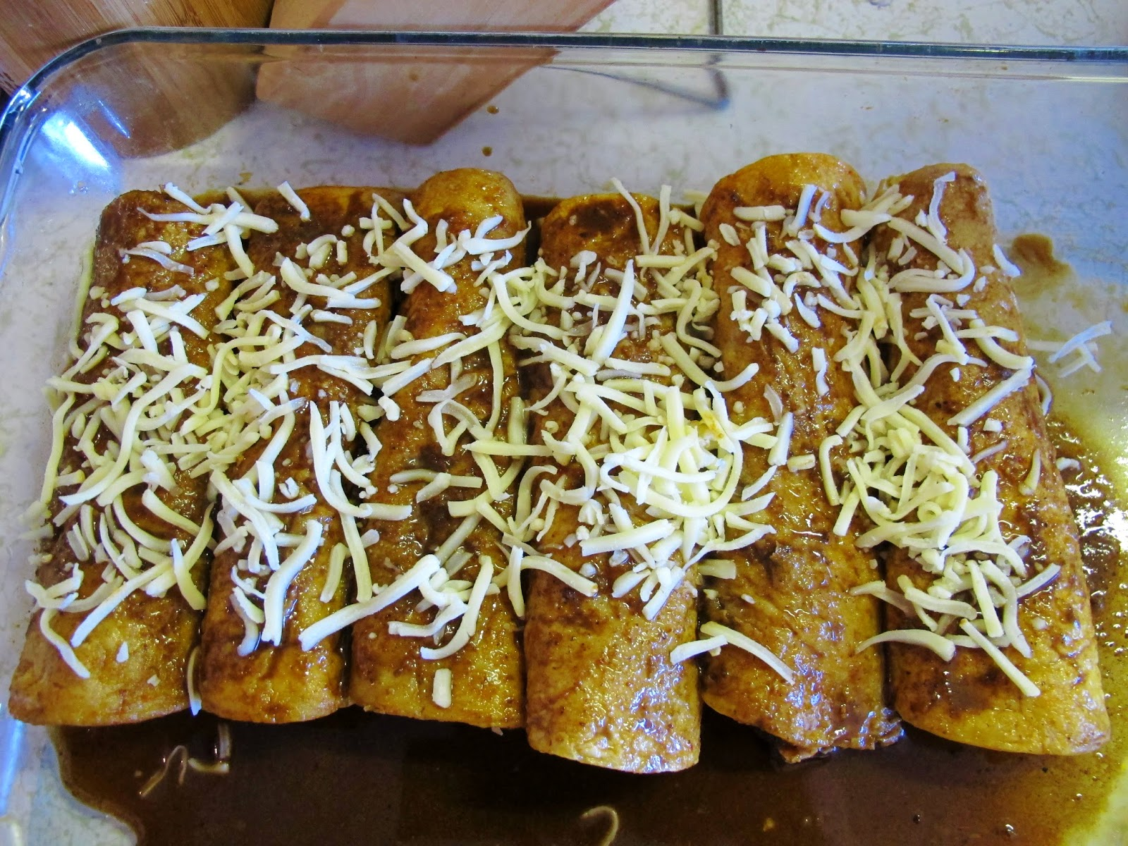 ... Mole sauce for the end and top the already baked enchiladas with it