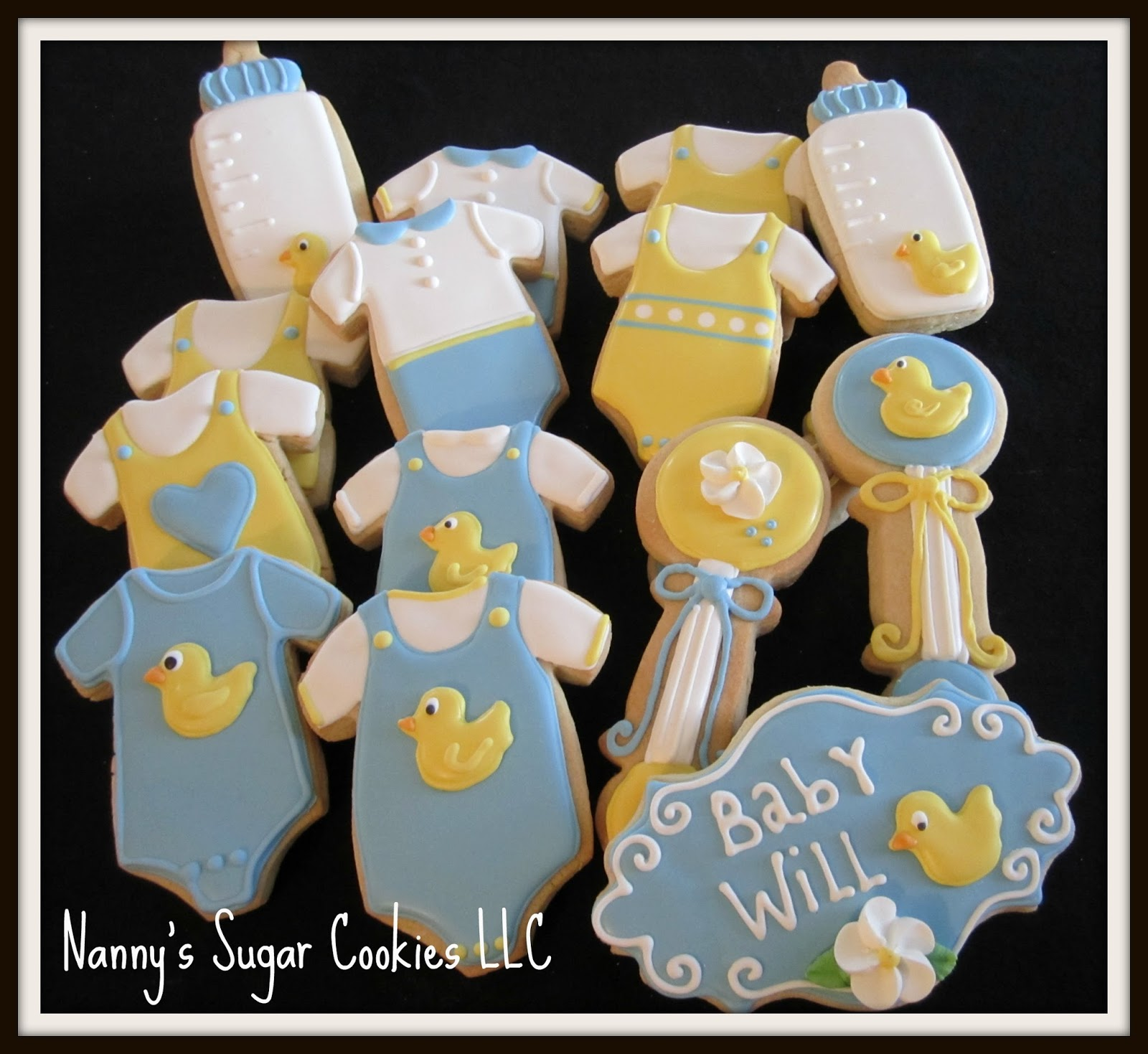 assorted baby shower cookie favors
