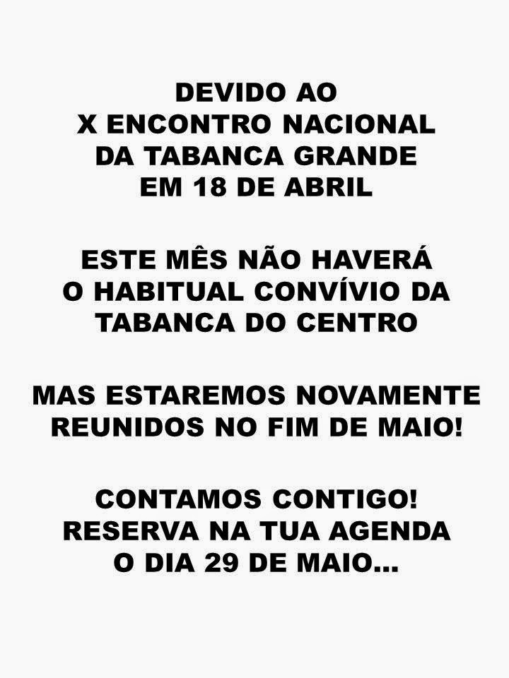 SÓ PARA O FIM DE MAIO...