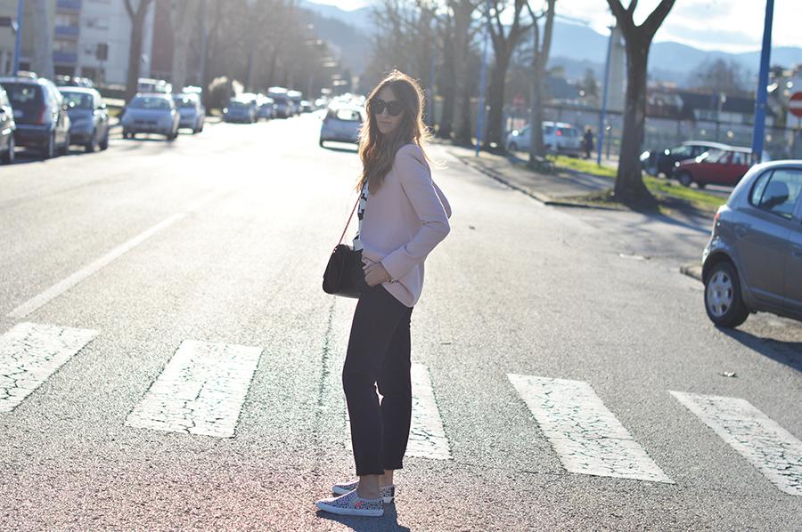 zara blazer, zara bag, fashion blogger, italian fashion blogger, elisa taviti, slip on, slip on shoes, slip on street style, slip on shoes street style