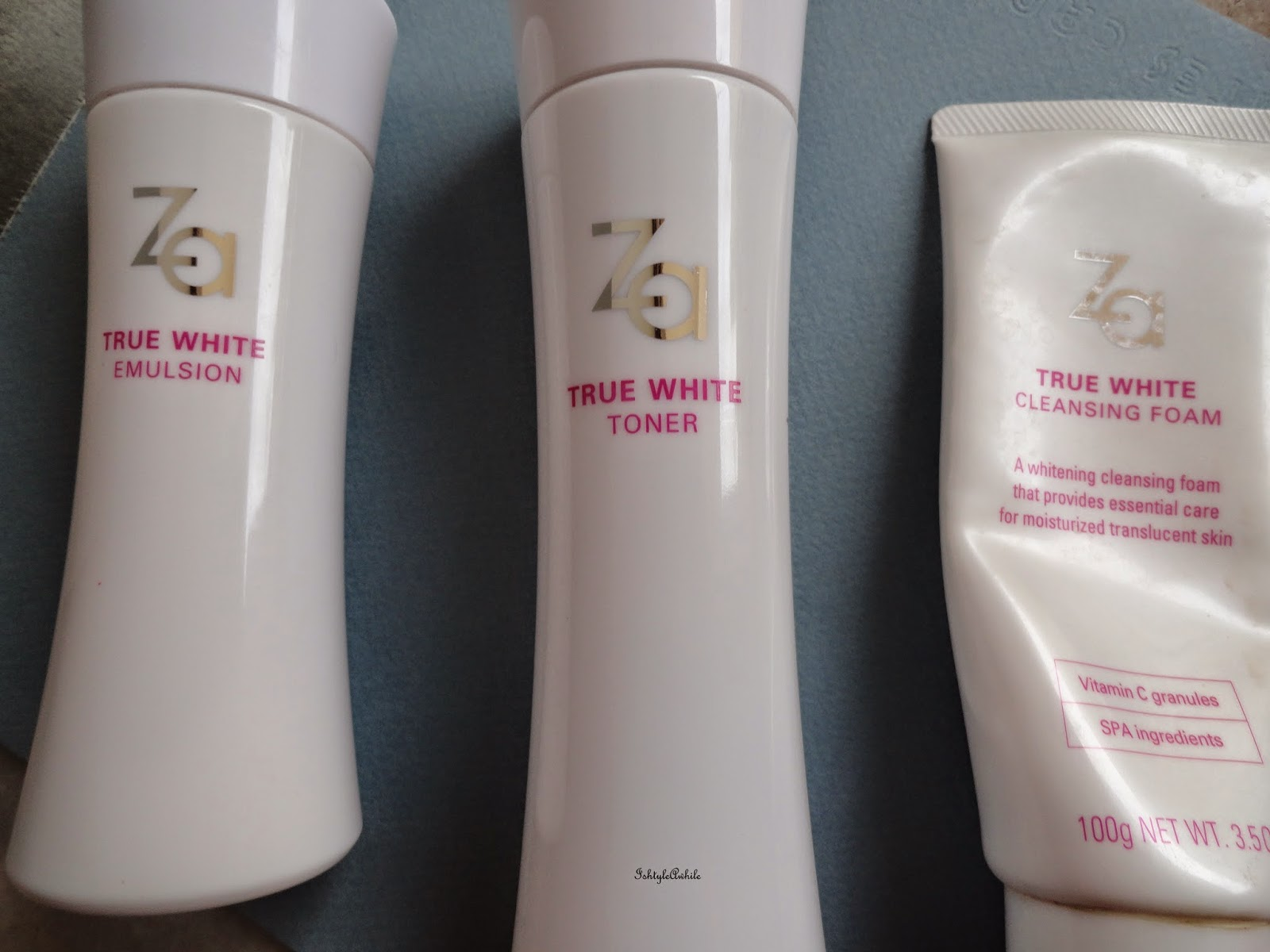 My Morning Skin care routine with ZA True White products image