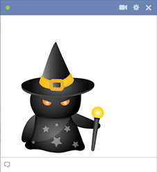 Spooky witch - Facebook emoticon