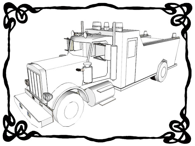 Fire Engine Printable Coloring Pages