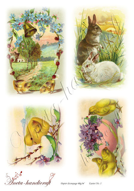 Aneta-handicraft decoupage papers- Easter collection