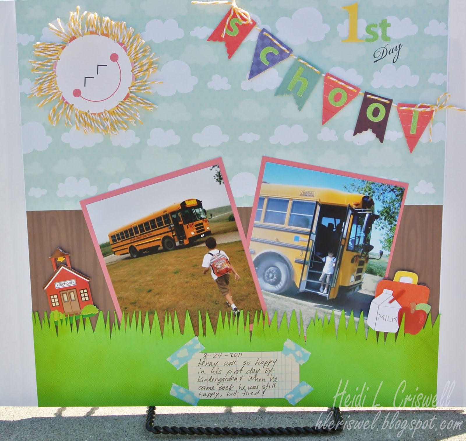 How to make scrapbook for school project - And Here Is My Project Using The Twinery Marigold Twine And The Back To School Theme