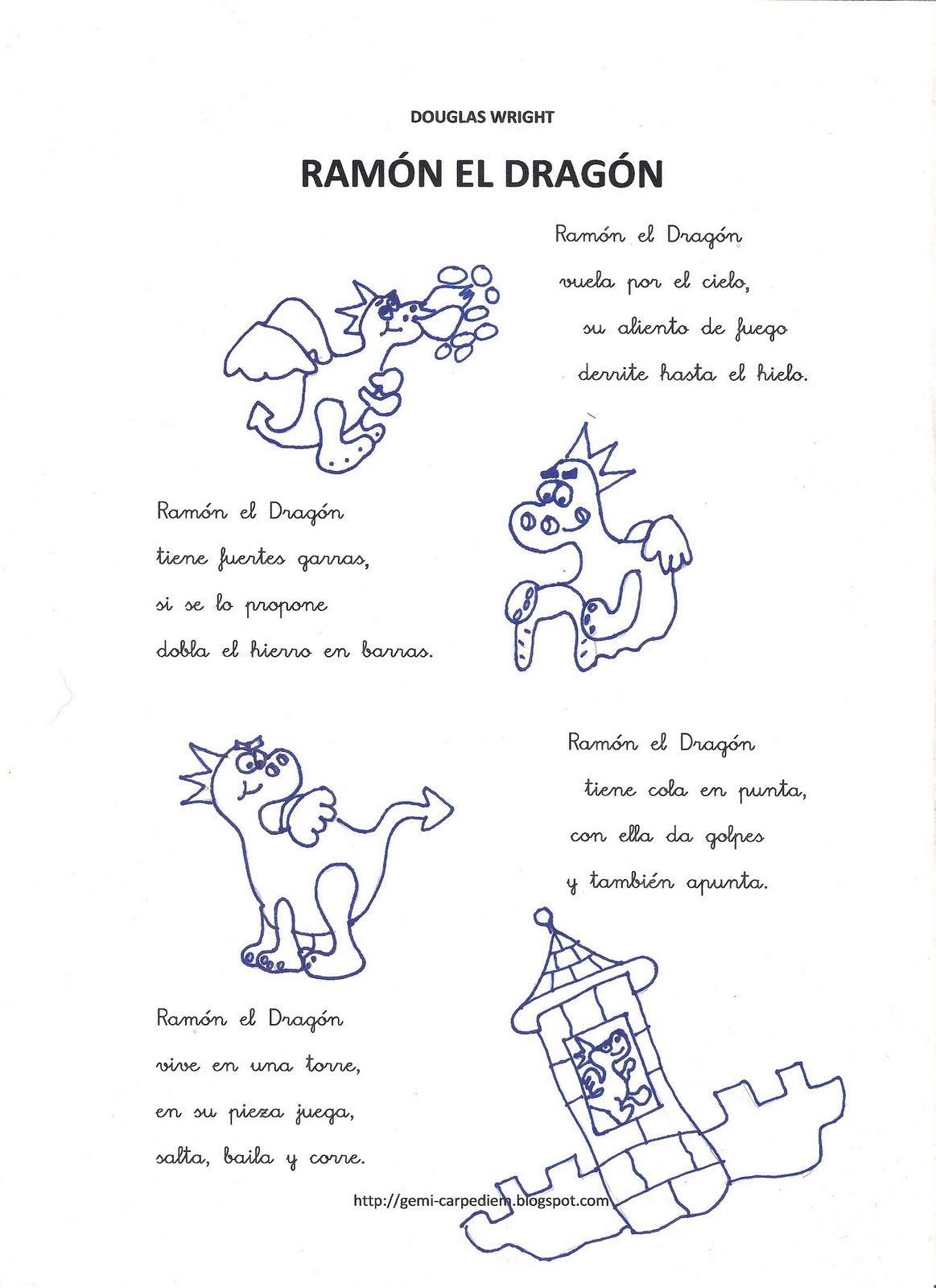 Recursos infantiles ram n el drag n - Castillos para ninos de infantil ...
