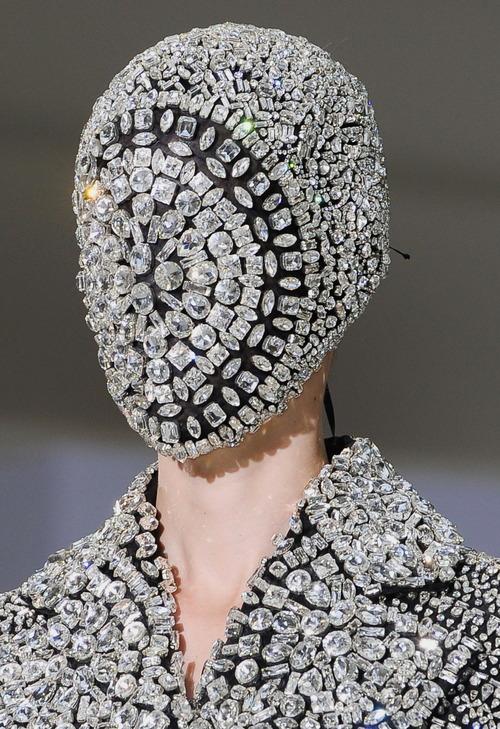 total inspiration maison martin margiela crystal mask
