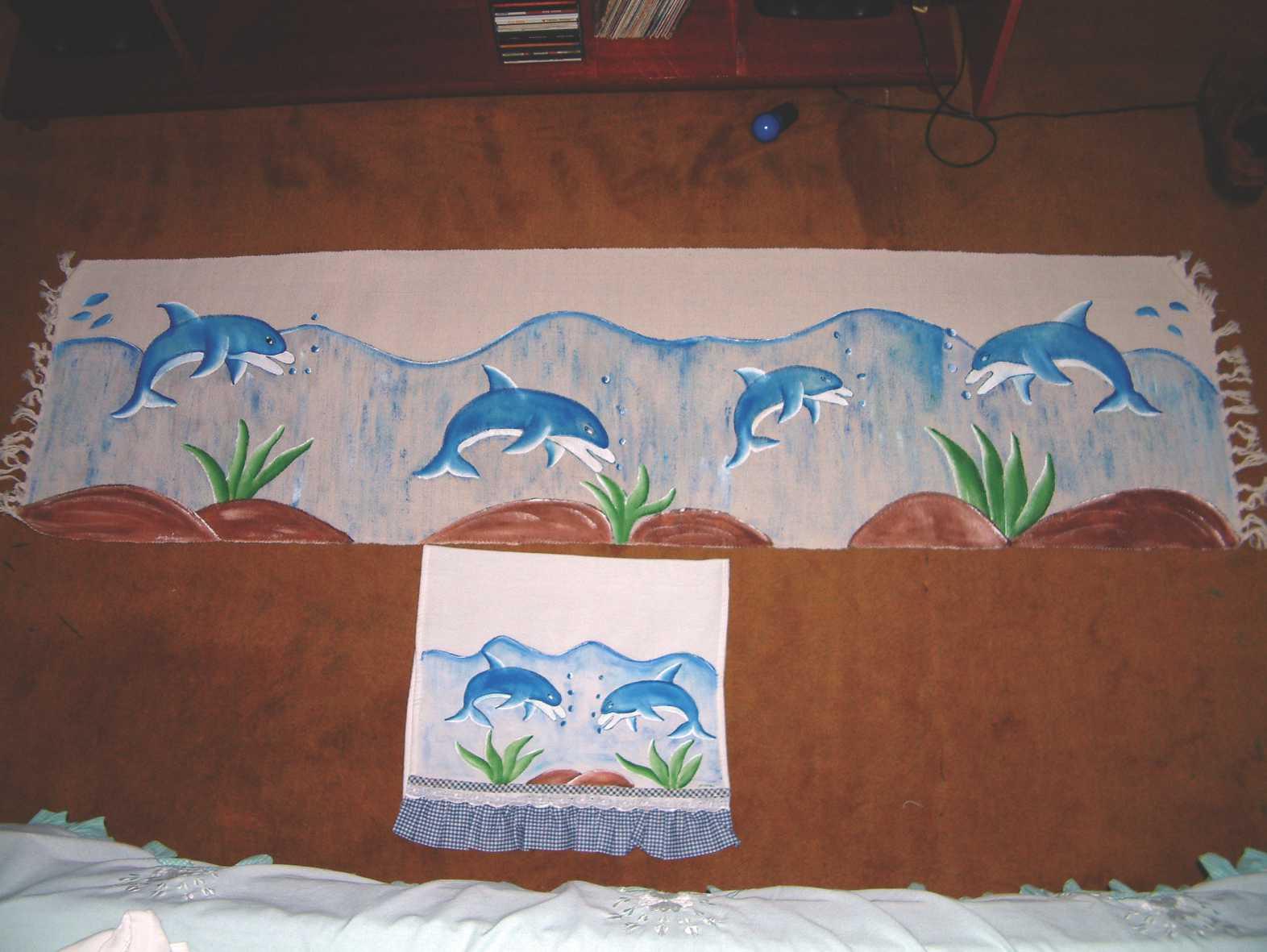 Pintura Em Tecido Pintura Em Tecido Tapetes  -> Tapete De Tecido Para Cozinha
