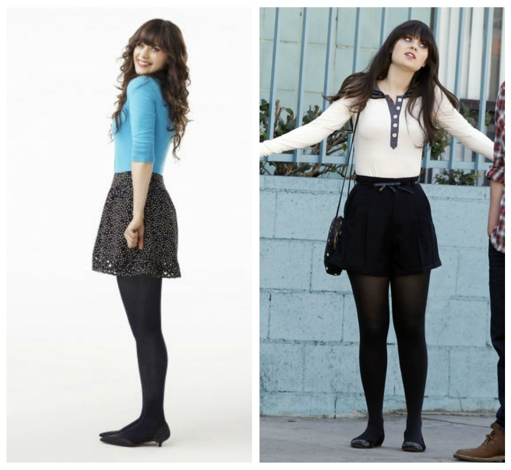Really Broke Girls: Looks Zooey Deschanel : Amazing !
