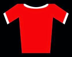 Maglia rossa calcio