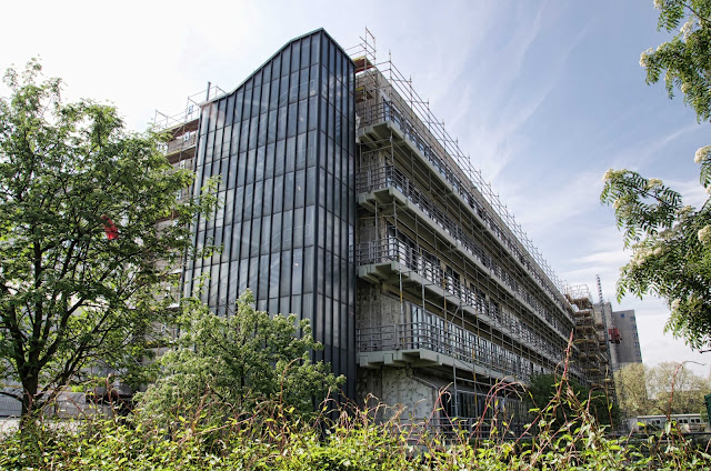 Baustelle Asbest-Sanierung, Beuth Hochschule für Technik, Luxemburger Straße 10, 13353 Berlin, 23.04.2014