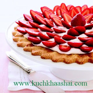 Fresh Strawberry–Cream Cheese Tart