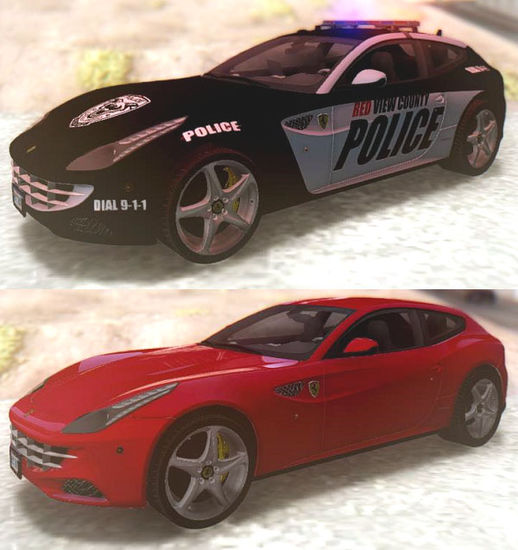 NFS Rivals Ferrari FF Cop & Racer مود سياره