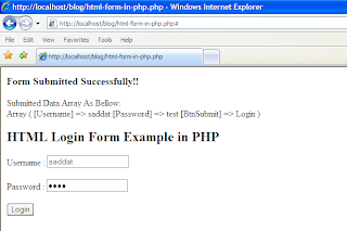 php example form html post