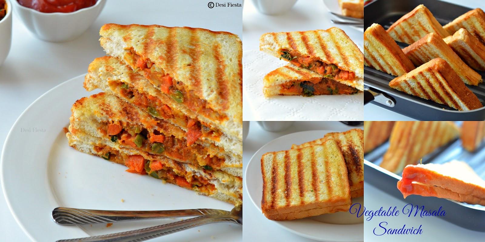 Masala filled sandwich