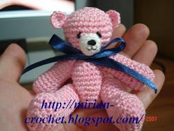 Receita -Ursinho de crochê