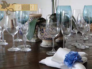 mesa demolição, porta guardanapo camélia de cetm azul hortênsia, festa