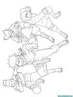 Konoha Ninja Printable Kids Coloring Pages