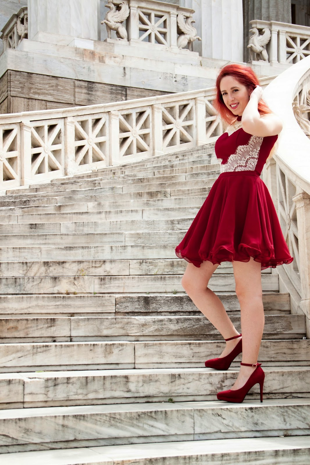 Redhead, spotlights on the redhead, clothes, Anna Keni, Anna, fashion, blogger, fashion blogger, review, red, dress, model, hot,royals, photoshoot, mini, chichi,felicity