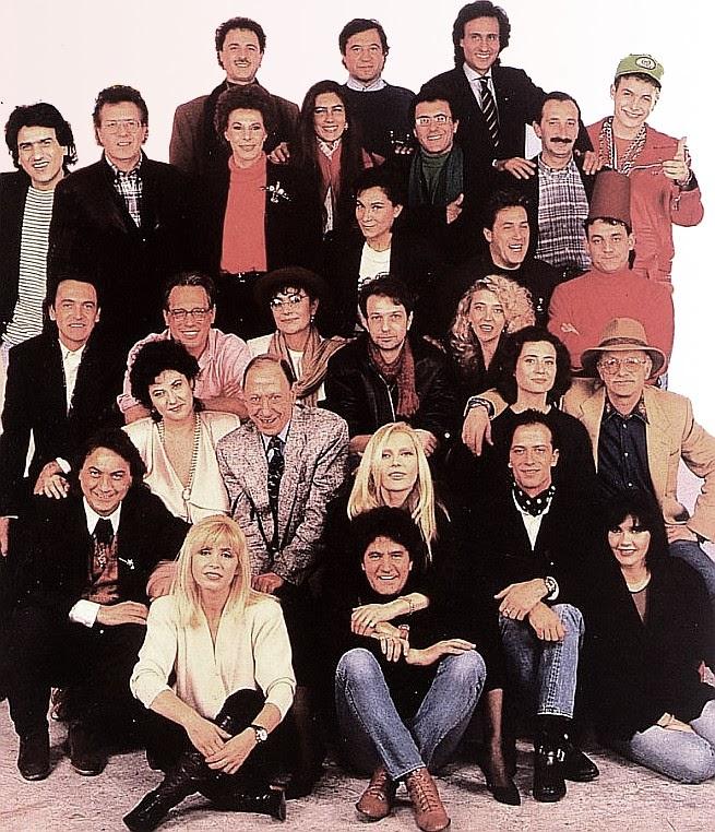 foto di gruppo artisti partecipanti al festival di sanremo 1989
